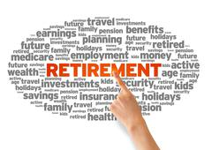 retirement - stock illustration