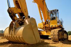 massive earth digger - stock photo