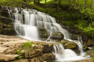 Waterfall in Swaledale, Yorkshire Dales, England Stock Photos