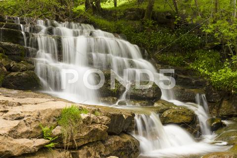 Stock photo of waterfall in Swaledale, Yorkshire Dales, England