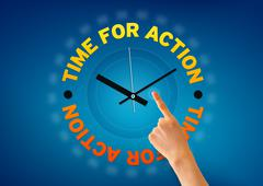 time for action - stock illustration