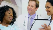 Patient Care Being Recorded Wireless Tablet Stock Footage