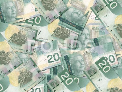 Stock Illustration of canadian 20 dollar bills