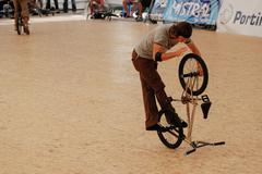 alexis desolneux in the flatland field control'07 - stock photo