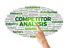 Competitor analysis Stock Illustration