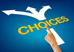 Stock Illustration of choices