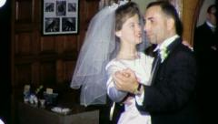 FIRST DANCE Beautiful Woman Bride Wedding 1960s Vintage Film Home Movie 3258 Stock Footage