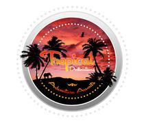 Tropical destinations - adventure awaits Stock Illustration