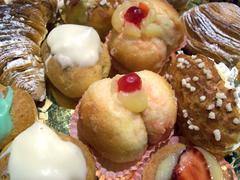 Tea cakes close-up Stock Photos