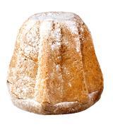 Pandoro italian christmas cake with sprinkled sugar cut out Stock Photos