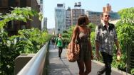 Stock Video Footage of highline park NYC
