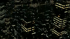 1080p night city aerial - stock footage