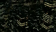 Stock Video Footage of 1080p night city aerial