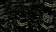 Stock Video Footage of 1080p night city aerial
