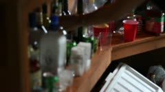 Bartender Mising drinks for Customer behind Bar Stock Footage