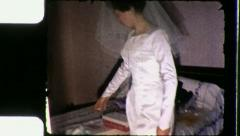 BRIDE Gets Ready PREPARES for Wedding Day 1960s Vintage Film Home Movie 3269 Stock Footage