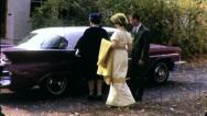 Young Woman WEDDING Bridesmaid  Goes Church 1960s Vintage Film Home Movie 3270 Stock Footage