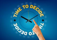 Stock Illustration of time to decide