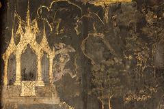 Damaged religious painting Stock Photos