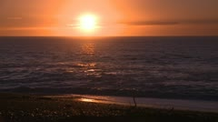 Brilliant ocean sunrise Stock Footage