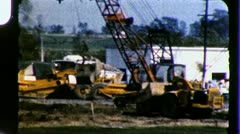 Dredging Wetlands Swamp Marsh 1950s Vintage Film Retro Home Movie 3277 - stock footage