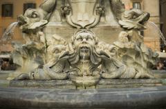 fontana del pantheon, piazza della rotonda, roma - stock photo