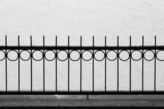 bw castelgandolfo railing against lake - stock photo