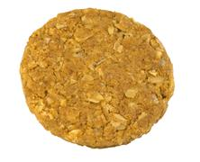 Single cereal cookie on white Stock Photos