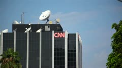 Stock Video Footage of CNN Los Angeles Building 01 HD