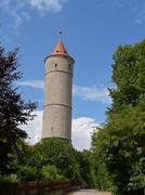 Watchtower in dinkelsbuehl, bavaria Stock Photos
