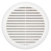 Circular plastic air vent over white Stock Photos