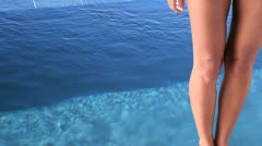 Woman plunging Stock Footage
