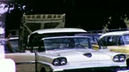 People Shop for CUSTOMERS CONVERTIBLE Car Lot 1950s Vintage Home Movie Film 3284 Stock Footage