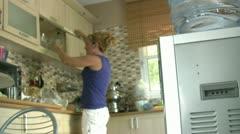 Women drinking water Stock Footage