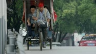 Stock Video Footage of rickshaw bike in China