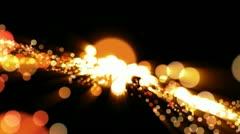 Particles waveform, loop Stock Footage