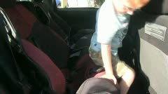 Child car seat Stock Footage
