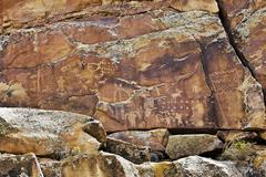 Indian Rock Art - stock photo