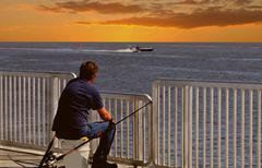Cedar Key fishing pier Stock Photos
