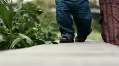 Baby first steps Stock Footage