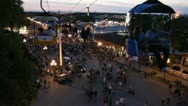 Stock Footage - Iowa State Fair - HD1080p - Flying over crowd - Sunset Stock Footage