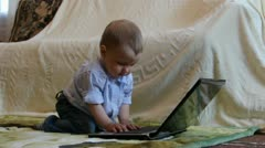 Young Computer User Stock Footage