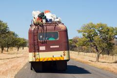 Public transportation on african road Stock Photos
