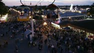 Stock Video Footage of Stock Footage - Iowa State Fair - HD1080p - Amazing shot flying through crowd