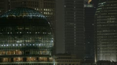 Shangai Pudong at Night Stock Footage