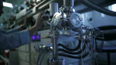 Digital equipment in science laboratory - stock footage