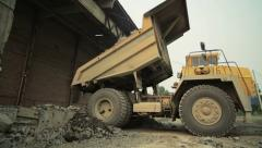 Loading of rock in the quarry 5 - stock footage
