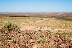 landscape in namibia - stock photo