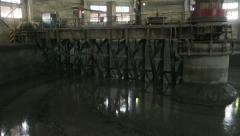 Cement production factory Stock Footage