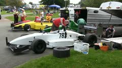 In the paddock at the Loton Park Hill Climb Stock Footage